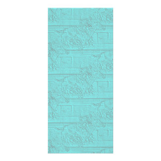 Teal Etched Look Horse Racing Silhouette Full Color Rack Card
