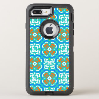 Teal Ethnic Pattern OtterBox Defender iPhone 7 Plus Case