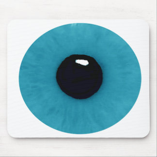 Teal Eyeball Mouse Pad