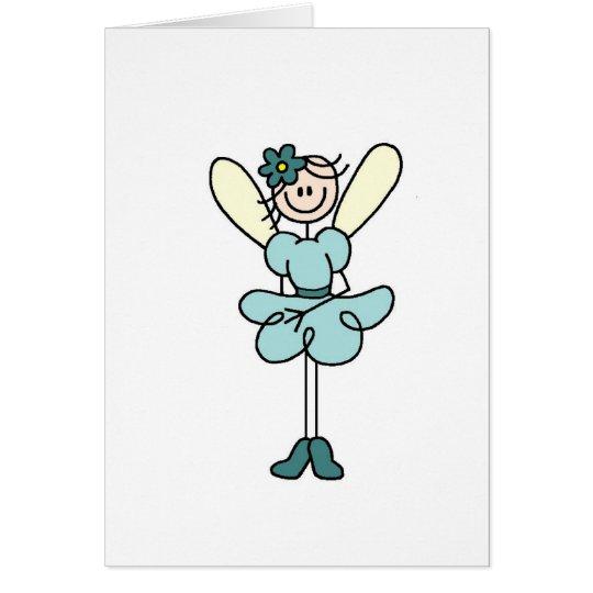Teal Fairy Angel Card