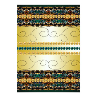 Teal Fancy Elegant Special Occasion Invitations