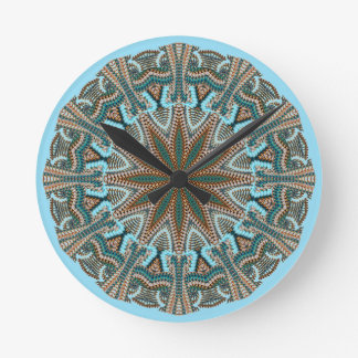 Teal Faux-knit Design Wallclocks