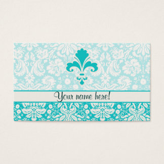 Teal Fleur de lis Business Card