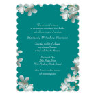 Teal Floral Vow Renewal Scripture Invitation