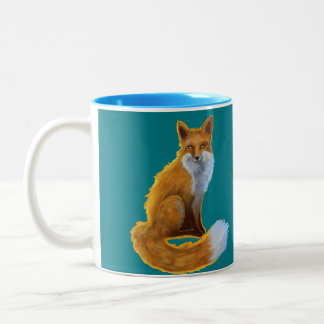Teal Fox Mug