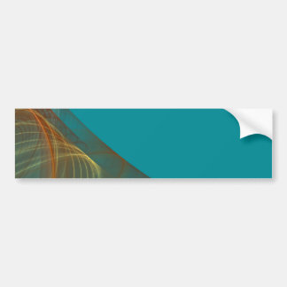 Teal Fractal Background Bumper Sticker