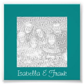Teal Frame Photo Photograph