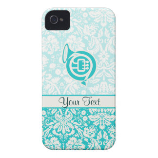 Teal French Horn Case-Mate iPhone 4 Case