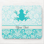 Teal Frog Mousepads