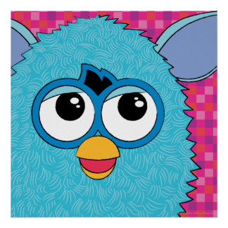 Teal Furby Poster