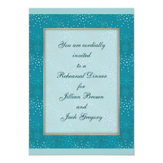 Teal Galaxy WEDDING Rehearsal Dinner invite
