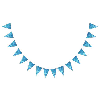 Teal Geode Bunting Flags