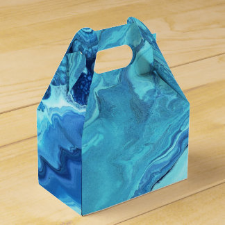 Teal Geode Favor Box