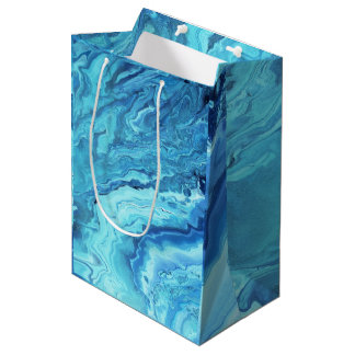 Teal Geode Medium Gift Bag