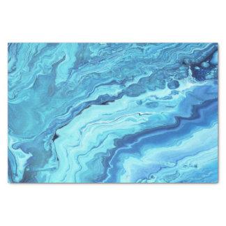 Teal Geode Tissue Paper