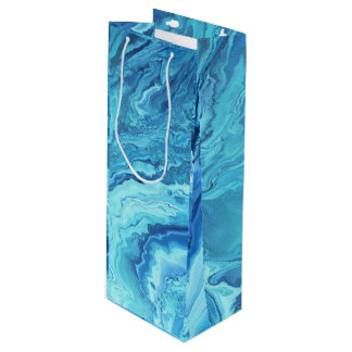 Teal Geode Wine Gift Bag