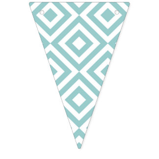 """TEAL GEOMETRIC"" BUNTING FLAGS"