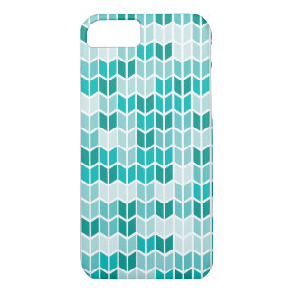 Teal Geometric Pattern iPhone 7 Case