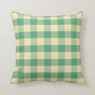 Teal gingham pillow