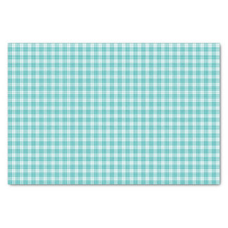 Teal Gingham Plaid Tissue Paper