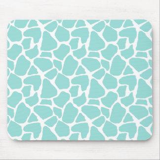Teal Giraffe Print Mousepad