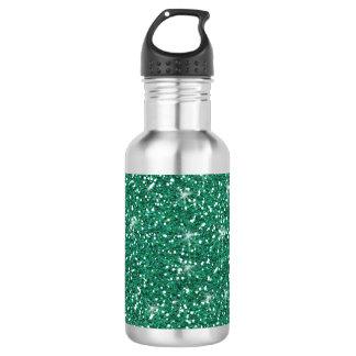 Teal Glitter Printed