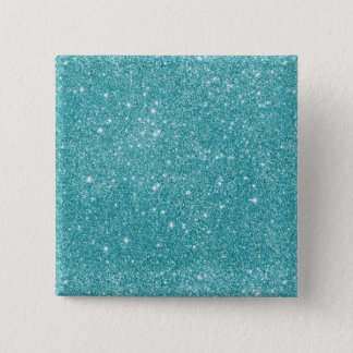 Teal Glitter Sparkles 2 Inch Square Button