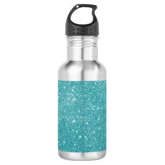 Teal Glitter Sparkles 532 Ml Water Bottle
