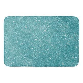 Teal Glitter Sparkles Bath Mat
