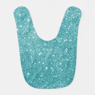 Teal Glitter Sparkles Bib