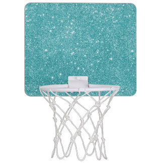 Teal Glitter Sparkles Mini Basketball Hoop