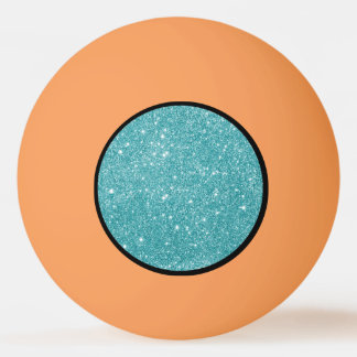 Teal Glitter Sparkles Ping Pong Ball