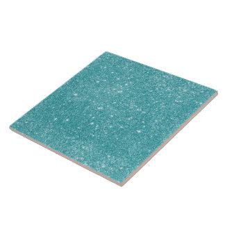Teal Glitter Sparkles Tile