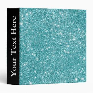 Teal Glitter Sparkles Vinyl Binders