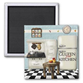 Teal Gluten Free Kitchen Magnet