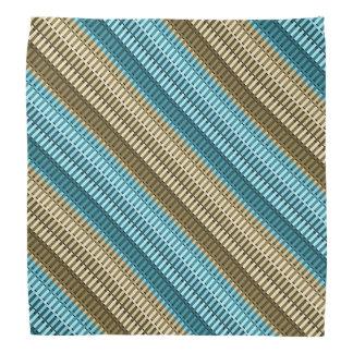 Teal & Gold Stylish Modern Abstract Stripe Pattern Bandana