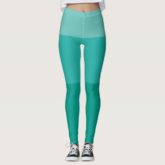 Teal Gradient Leggings