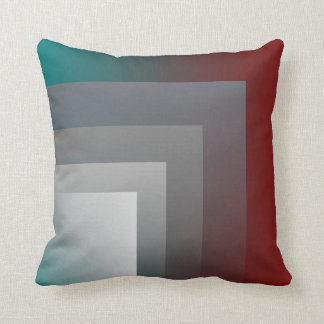 teal gray burgundy pillow