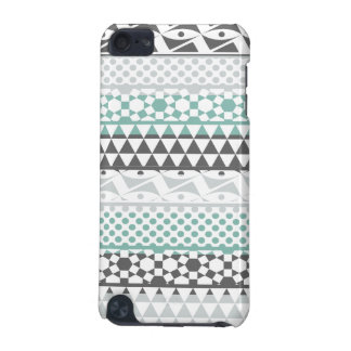 Teal Gray Geometric Aztec Tribal Print Pattern iPod Touch (5th Generation) Covers