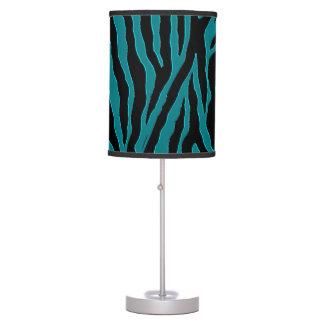 Teal Green and Black Zebra  Lamp