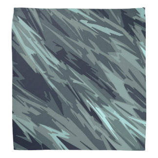 Teal Green Blue Black Abstract Pattern Bandana