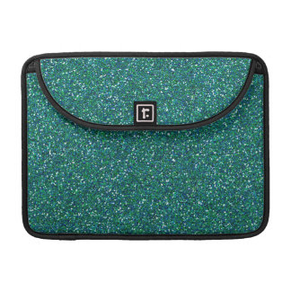 Teal Green Blue Glitter Graphic Art Pattern Design Sleeve For MacBook Pro