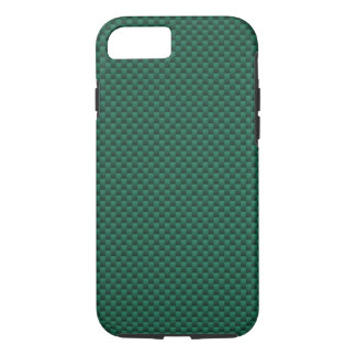 Teal Green Carbon Fiber Background Print iPhone 7 Case