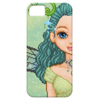 Teal & Green Faery Pixel Art iPhone 5 Cover