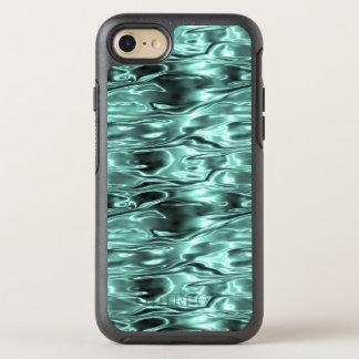 Teal Green Liquid Metal Metallic Fluid Aqua OtterBox Symmetry iPhone 8/7 Case