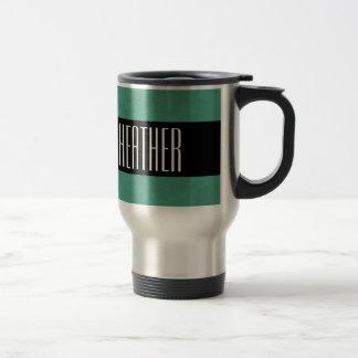 Teal Green NICOLE or Any Custom Name V08 Travel Mug