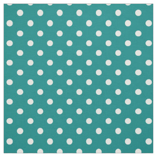 Teal Green Polka DOts Fabric
