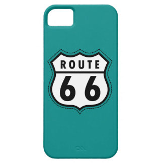 Teal Green Route 66 sign iPhone 5 Cases