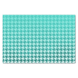 Teal Green Smudge Color in a Houndstooth Pattern Tissue Paper