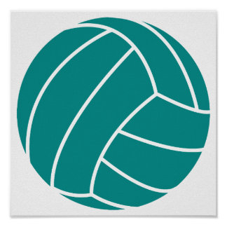 Teal Green Volleyball Print